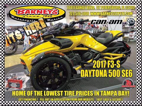 2017 Can-Am Spyder F3-S Daytona 500 SE6 in Saint Petersburg, Florida