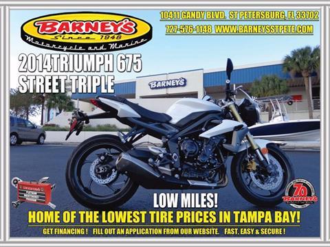 2014 Triumph Street Triple ABS in Saint Petersburg, Florida