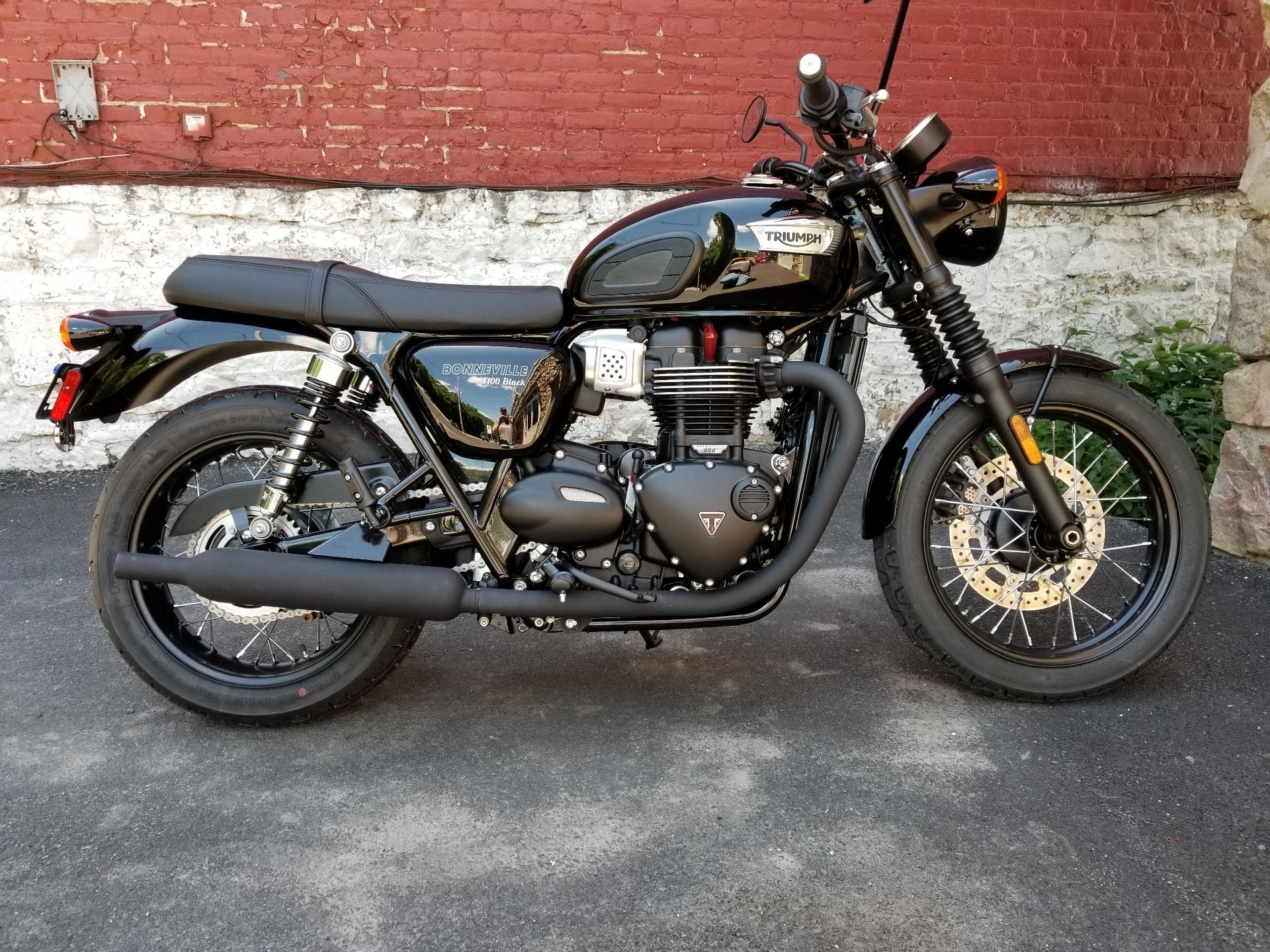 2017 Triumph Bonneville T100 Black Motorcycles Port Clinton Pennsylvania