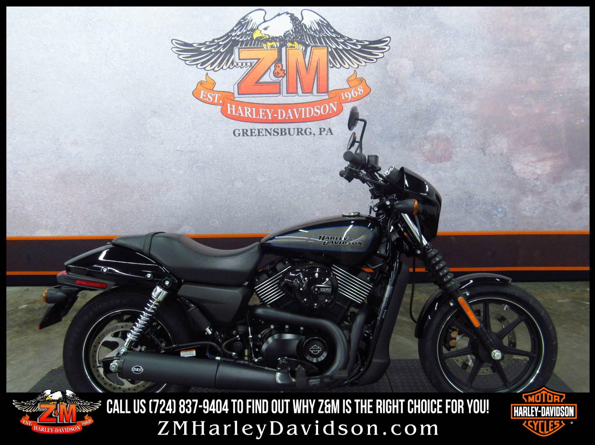 2017 Harley Davidson Street 750 In Greensburg Pennsylvania Photo 1