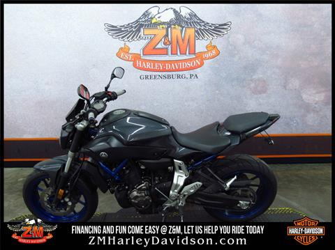 2015 Yamaha FZ-07 in Greensburg, Pennsylvania