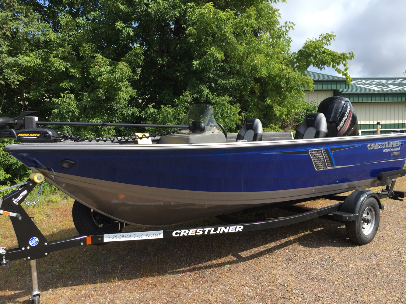 2018 Crestliner 1650 Fish Hawk SC in Cable, Wisconsin - Photo 1