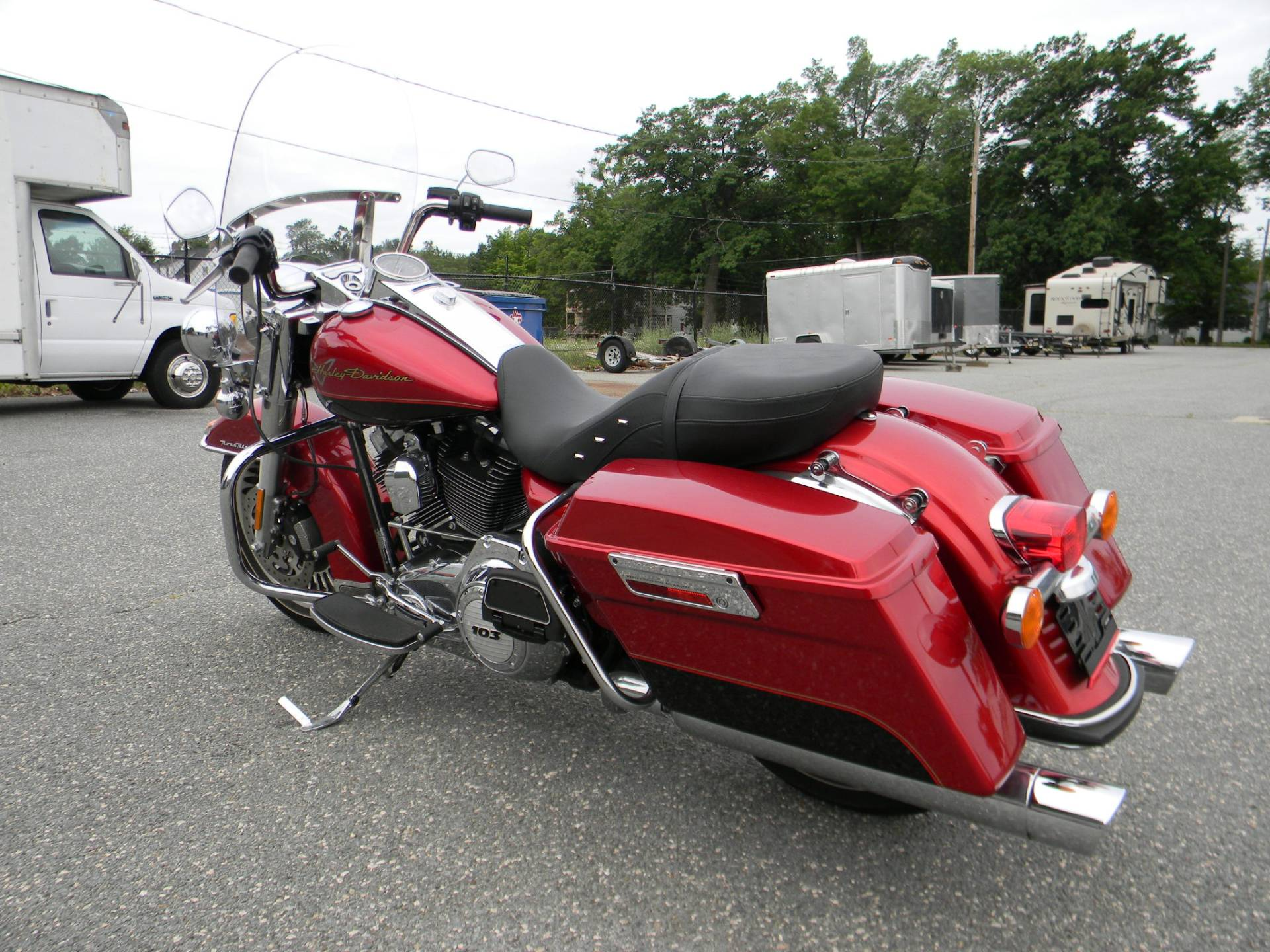2012 Harley Davidson Road King Motorcycles Springfield Red In Massachusetts