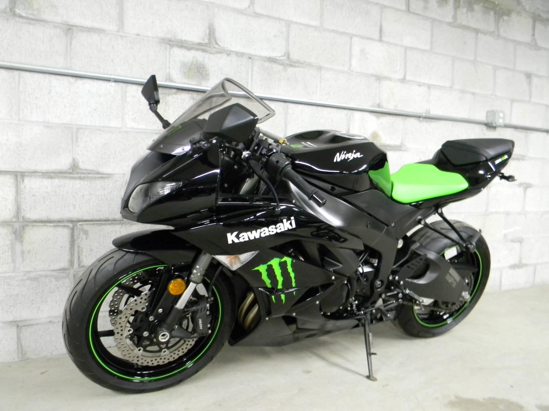2009 Kawasaki Ninja® ZX™ 6R Monster Energy® In Springfield, Massachusetts