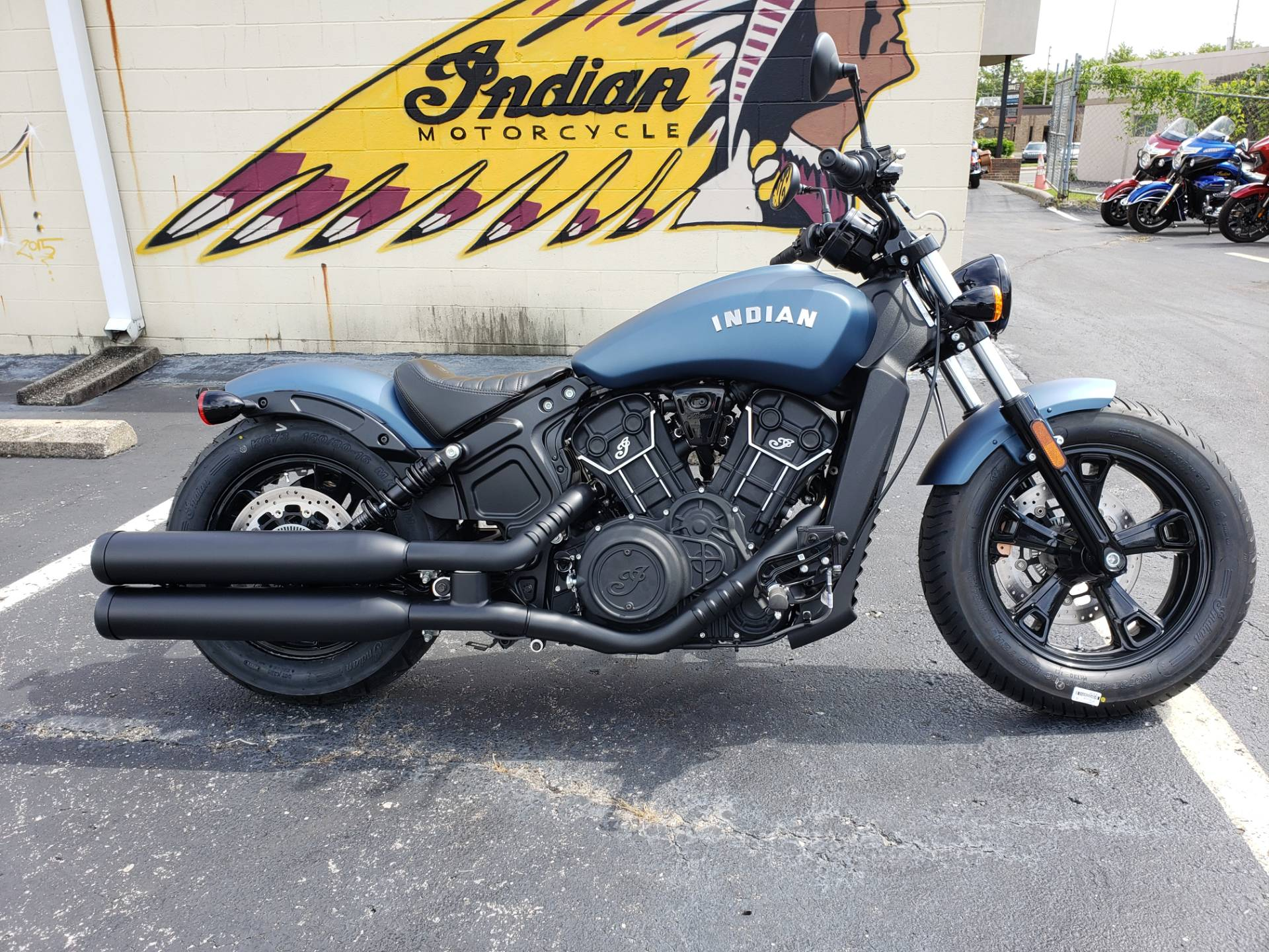 2021 Indian Scout Bobber Sixty Abs For Sale New Blue Slate Smoke Motorcycles In Nashville Tn Ind165095