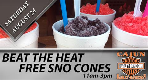 Beat The Heat-FREE Sno-Cones