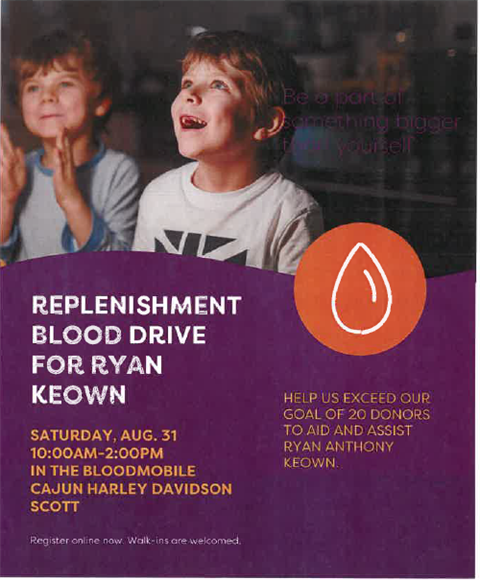 Ryan Keown Blood Drive