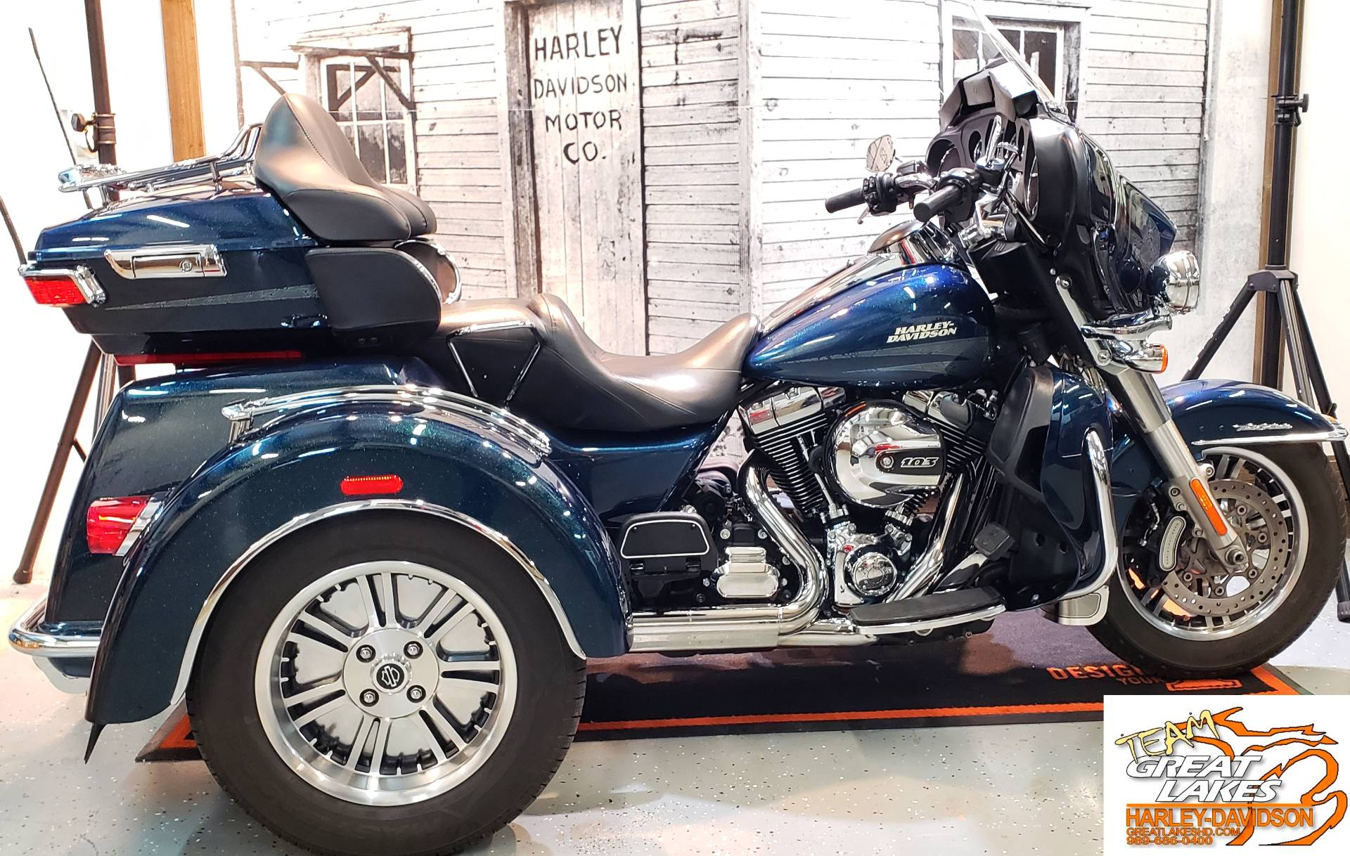 Chrome Three Light Dash Panel Kit,fits Harley Davidson motorcycle models