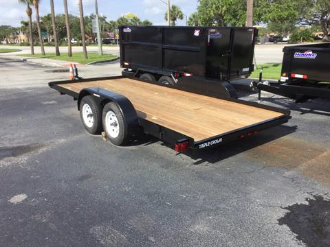 2019 Triple Crown 7X18 Equipment with Stowaway Ramps in Fort Pierce, Florida