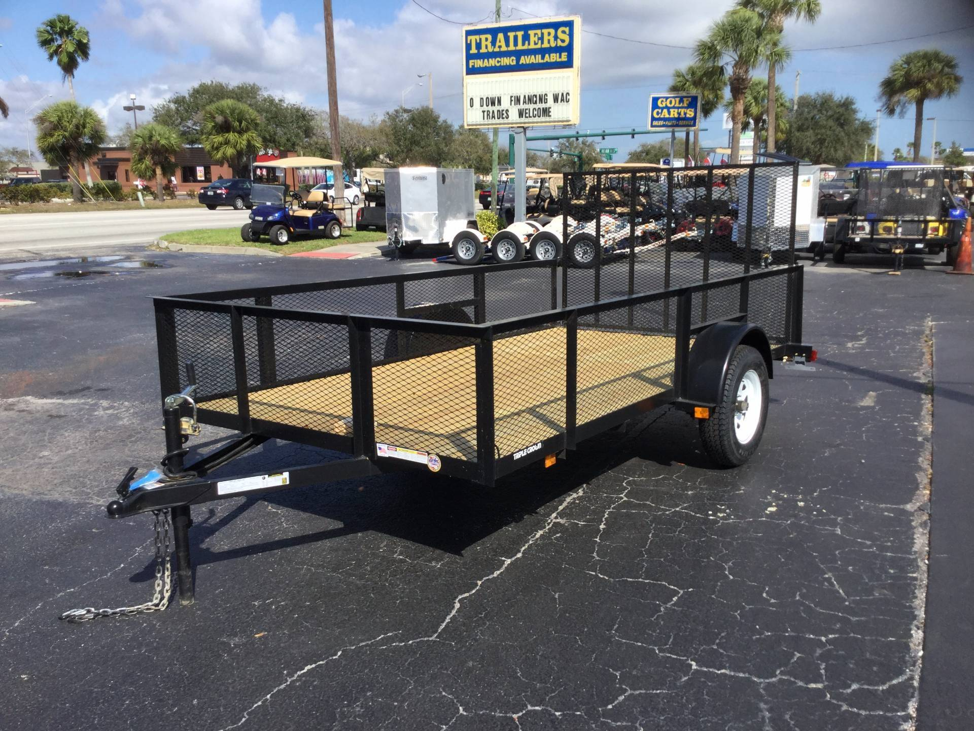 2018 Triple Crown 6X12 Utility with Mesh Sides in Fort Pierce, Florida