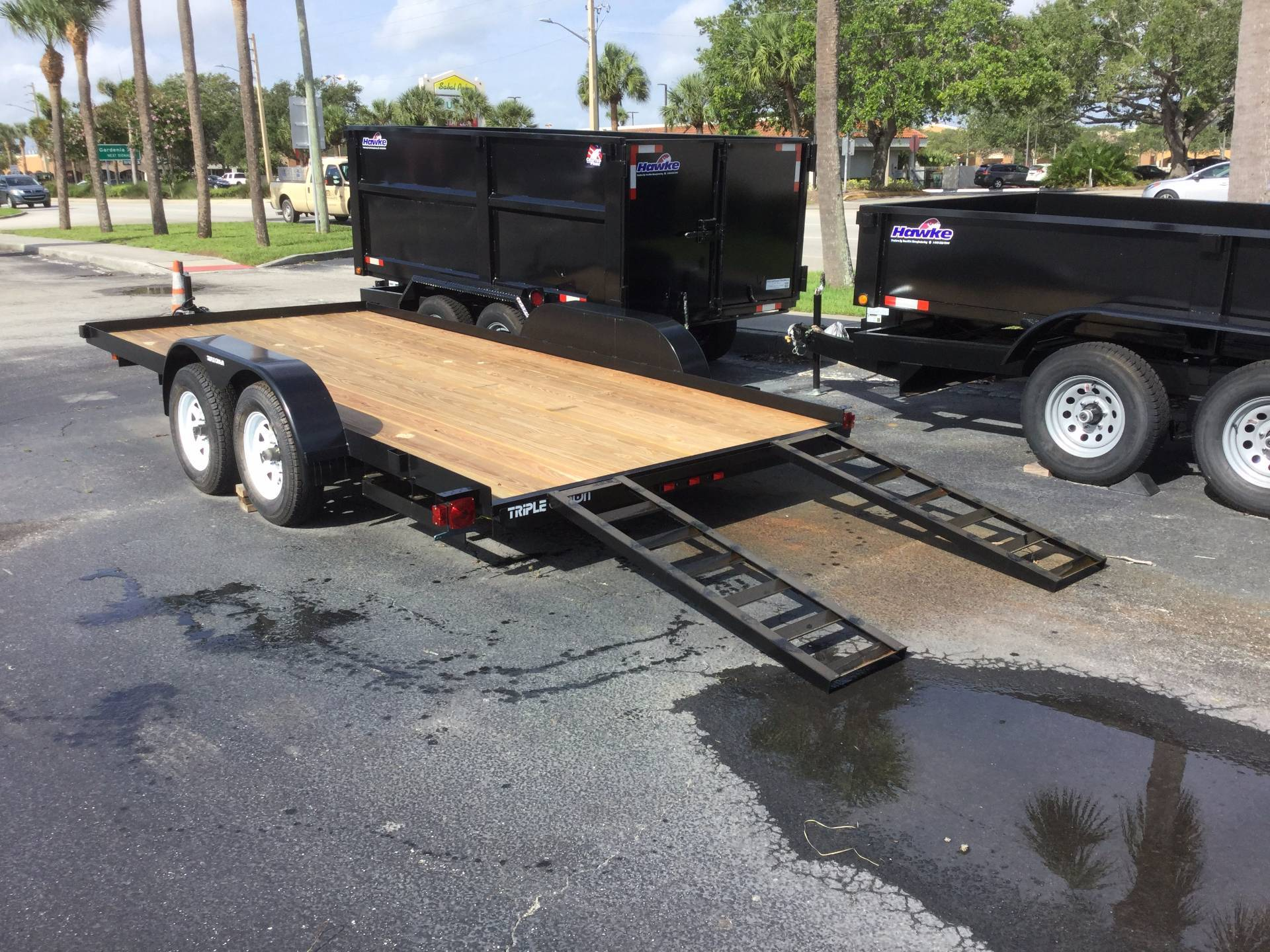 2019 Triple Crown 7X18 Equipment with Stowaway Ramps in Fort Pierce, Florida - Photo 3