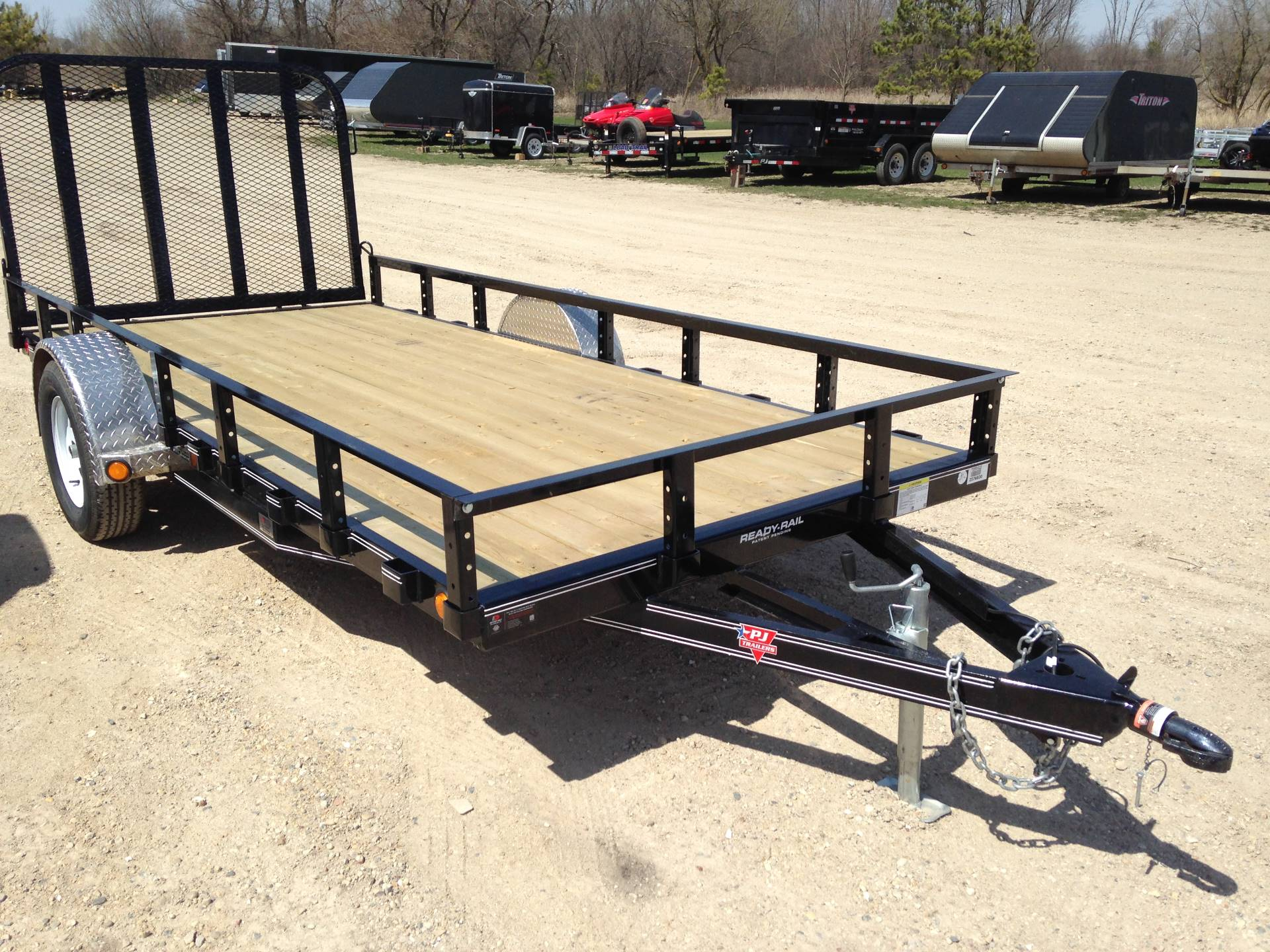 PJ Trailers In Single Axle Channel Utility U Utility - Picnic table trailer