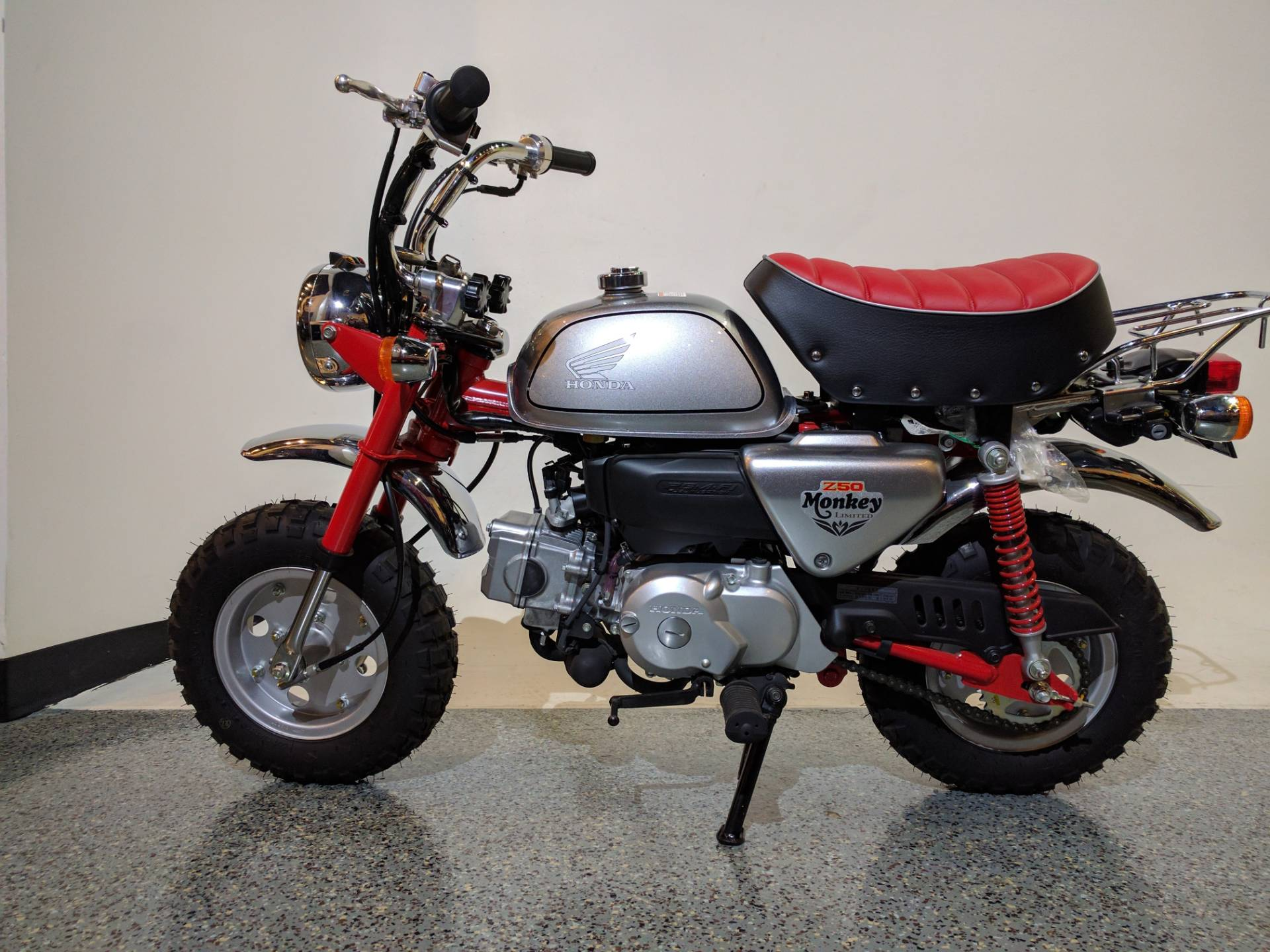 2012 honda z50 monkey silver / red motorcycles canton ohio mc534