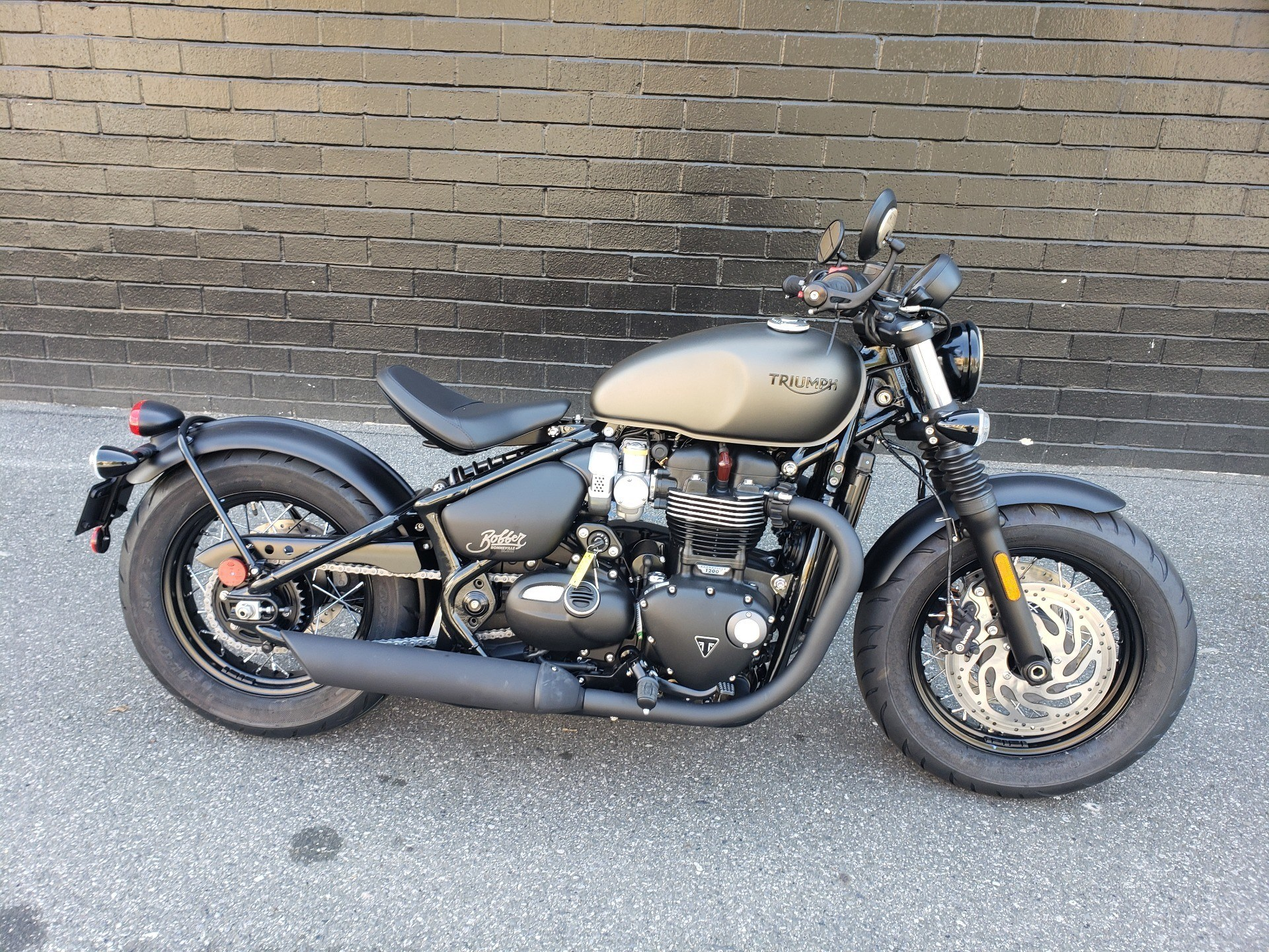 2020 Triumph Bonneville Bobber Black in San Jose, California - Photo 1