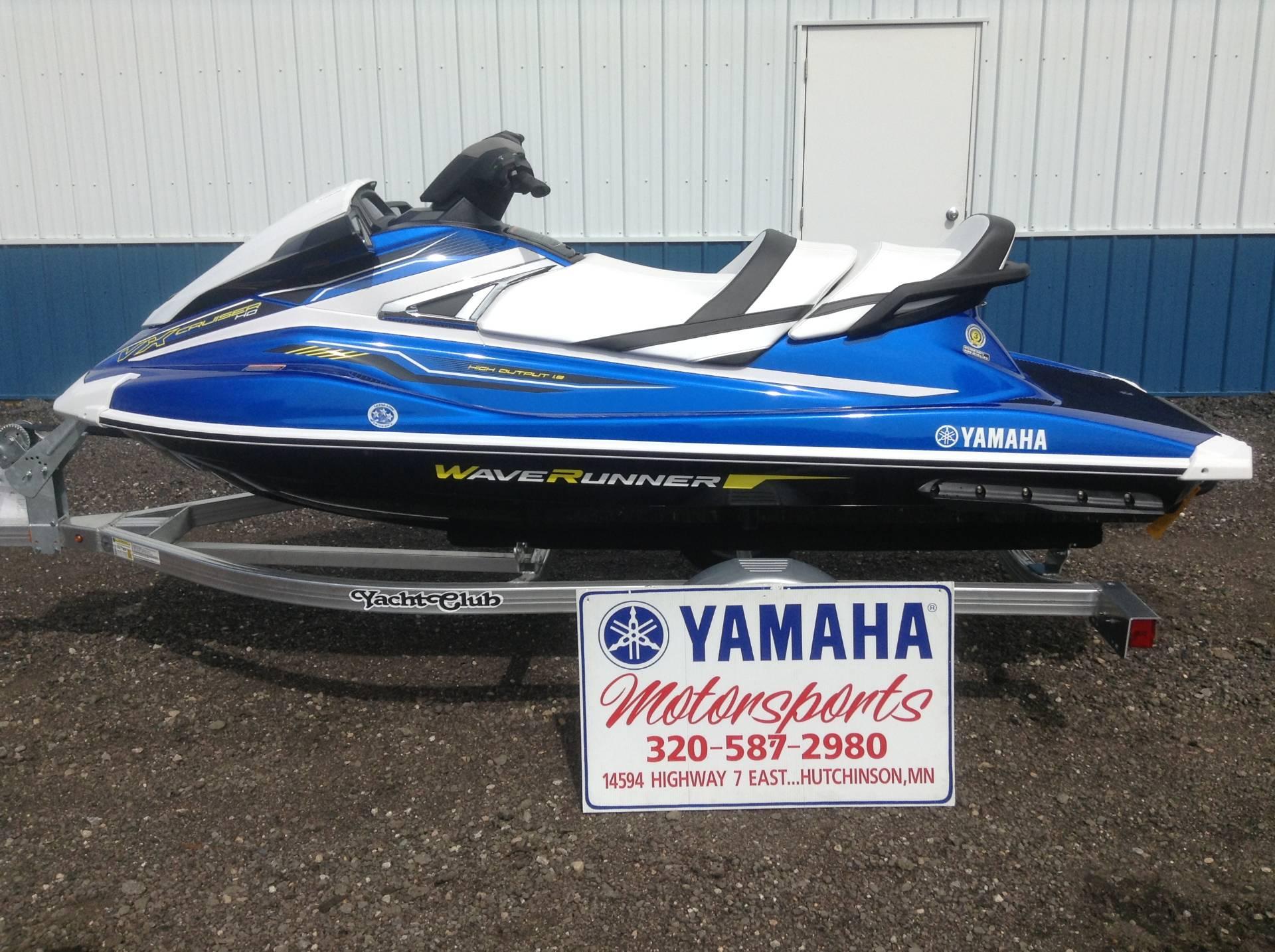 New 2018 Yamaha VX Cruiser HO Watercraft in Hutchinson MN