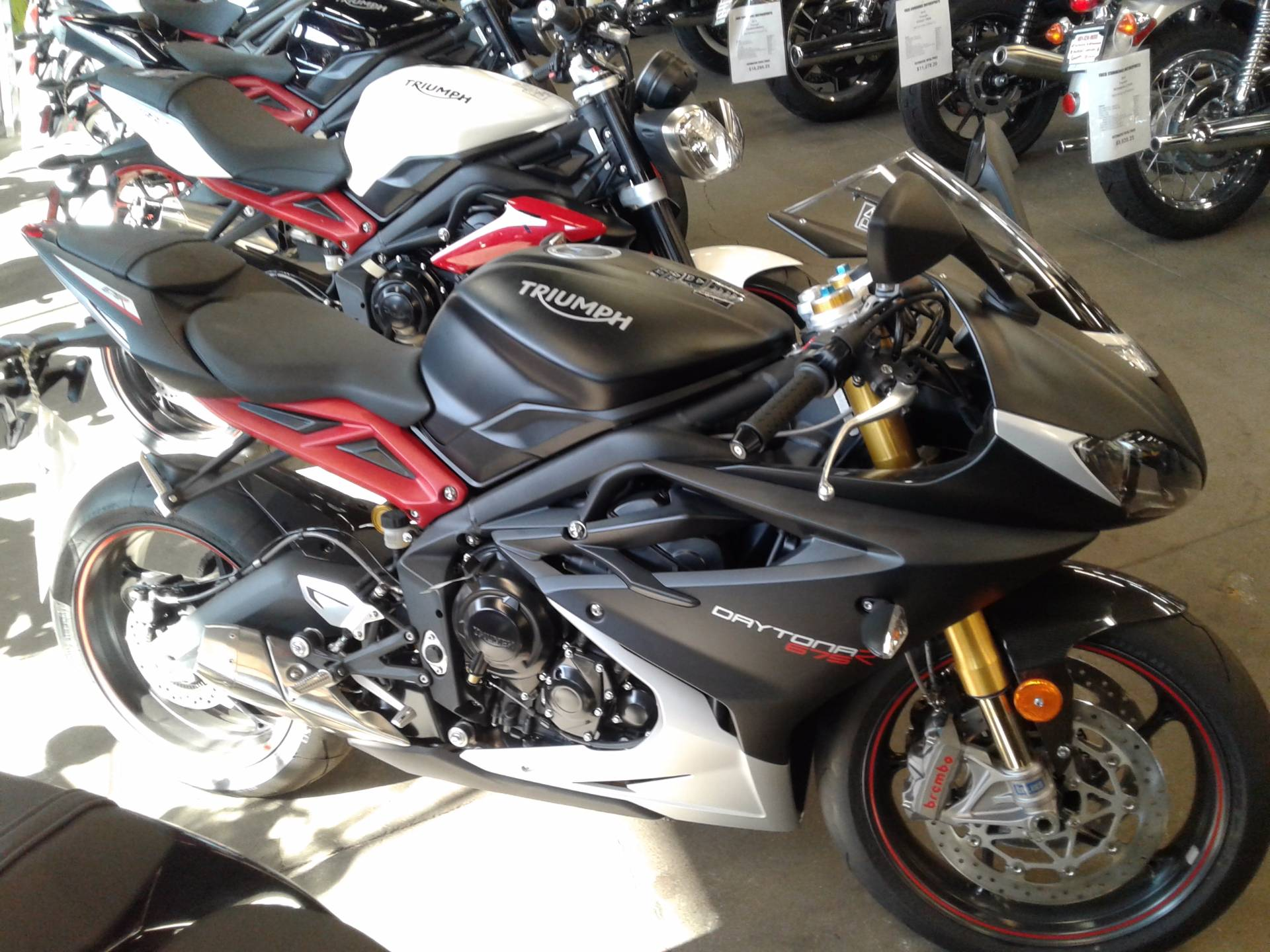 New 2016 Triumph Daytona 675 R Abs Motorcycles In Bakersfield Ca