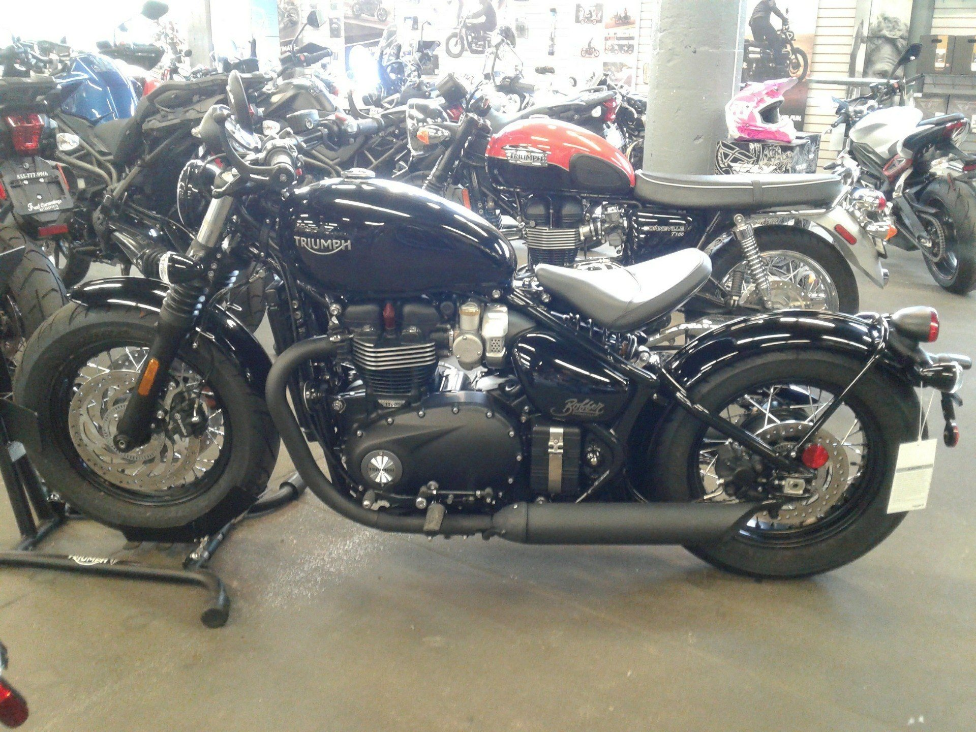2019 Triumph Bonneville Bobber Black in Bakersfield, California - Photo 1
