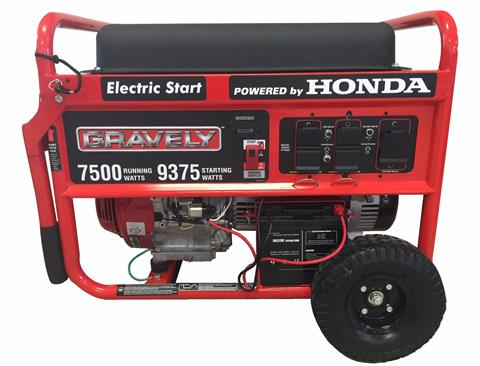 2014 Gravely USA Gravely 7500 Watt Portable Generator w/ Honda GX Engine in Rushford, Minnesota