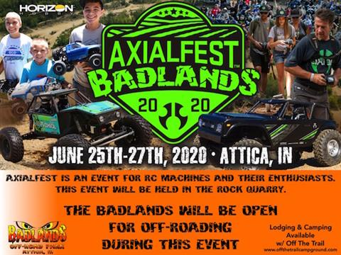 Axialfest Badlands 2020 (R/C Event; The Park is still open for Off-Roading)