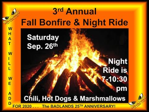 Fall Bonfire and Night Ride