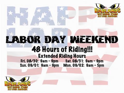 Labor Day Weekend Extended Riding