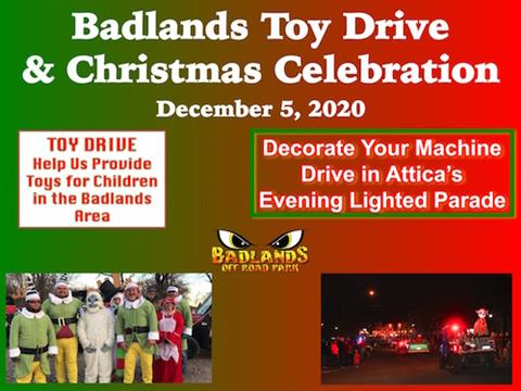 Badlands Toy Drive and Christmas Celebration