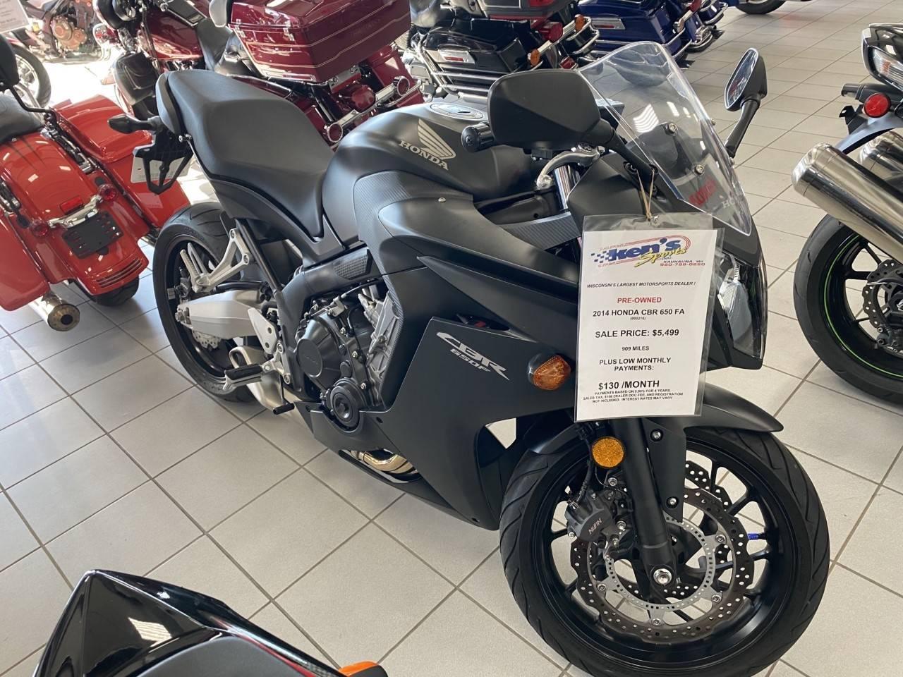 Used 2014 Honda Cbr 650f Abs Motorcycles In Kaukauna Wi 000216 Matte Black Metallic