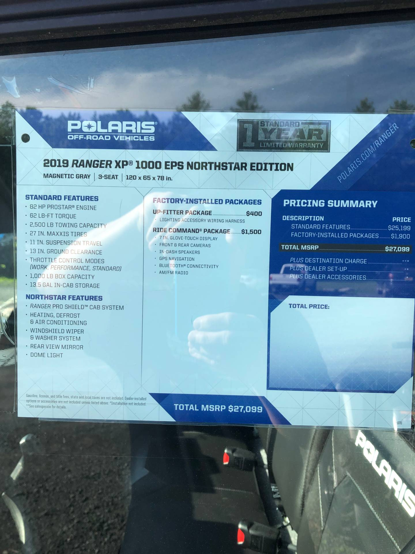 2019 Polaris Ranger XP 1000 EPS Northstar Edition in Troy, New York - Photo 6