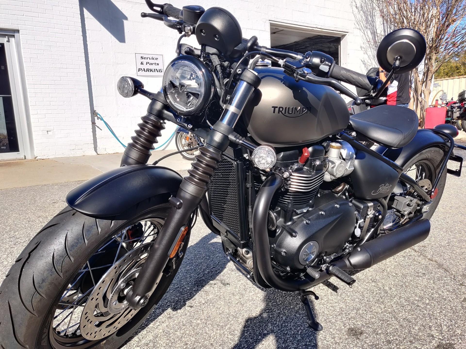 New 2020 Triumph Bonneville Bobber Black Matte Ironstone Motorcycles In Greenville Sc