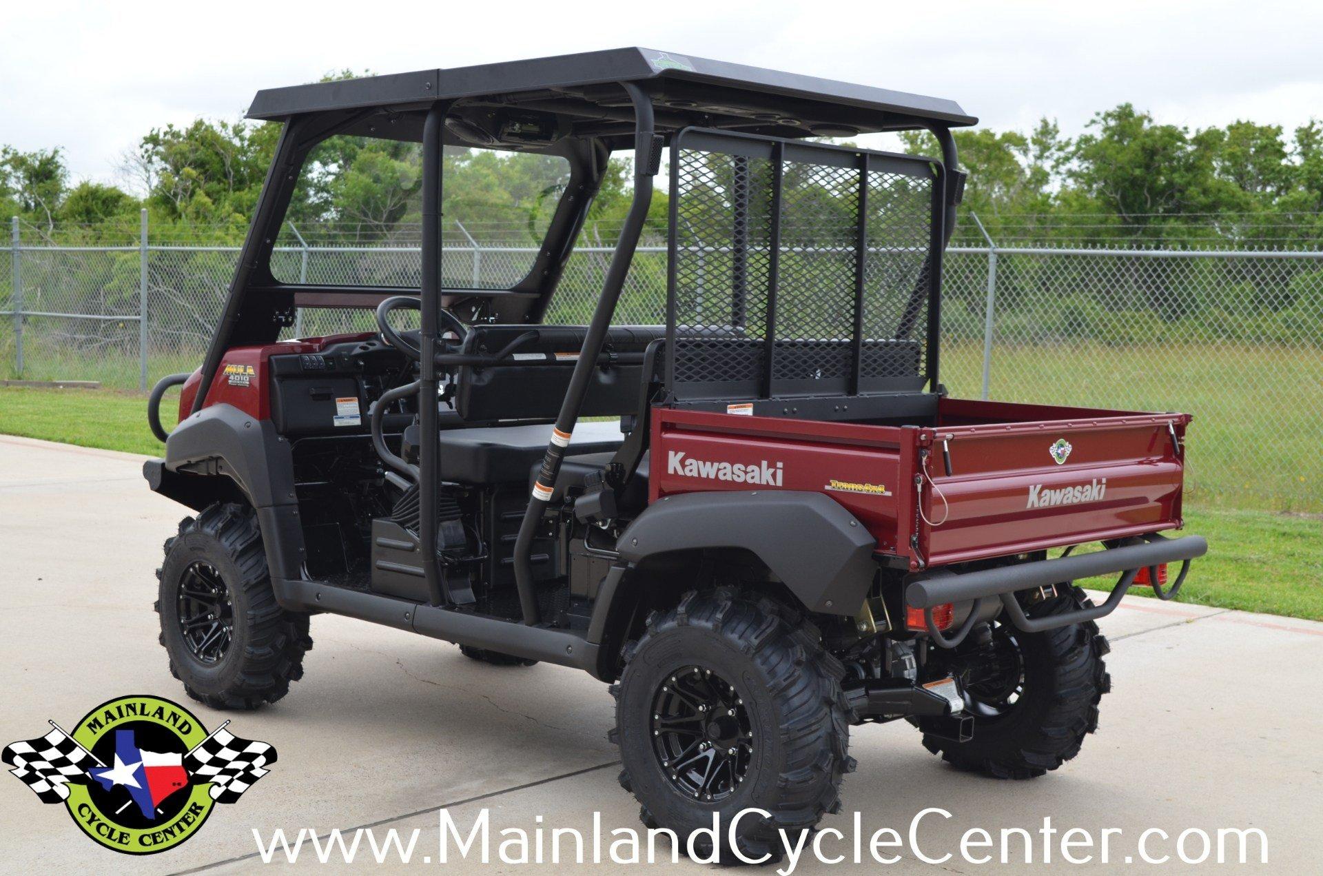 New 2013 Kawasaki Mule 4010 Trans4x4 Diesel Dark Royal Red Fuel Filter In La Marque Texas