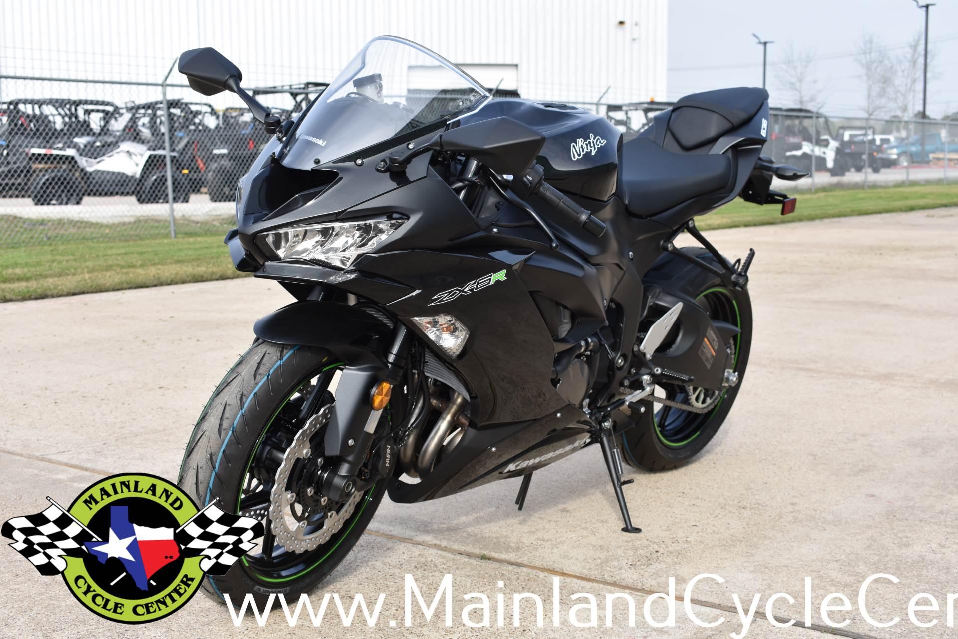 New 2019 Kawasaki Ninja Zx 6r Metallic Spark Black Metallic Flat