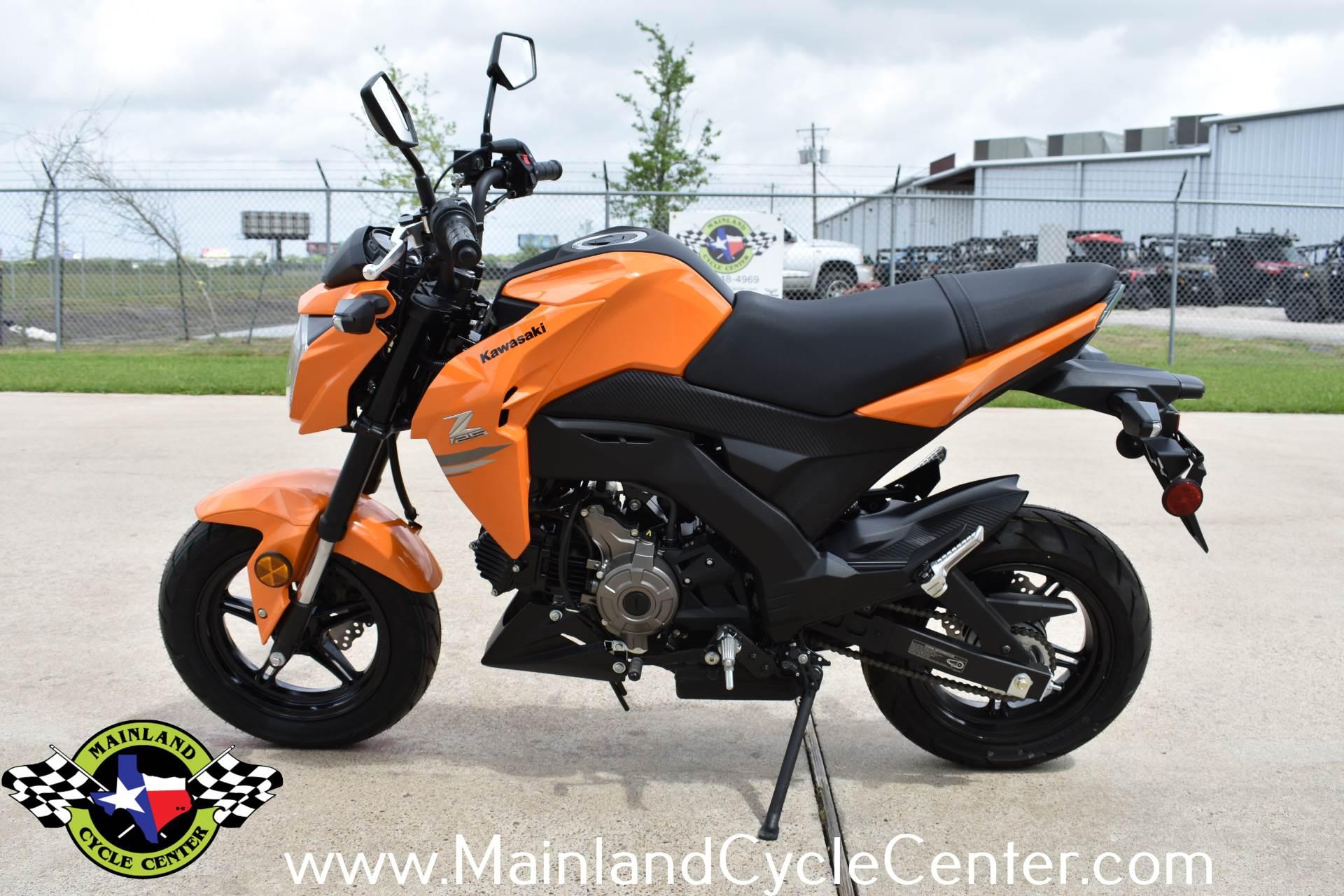 New 2019 Kawasaki Z125 Pro Candy Steel Furnace Orange Motorcycles