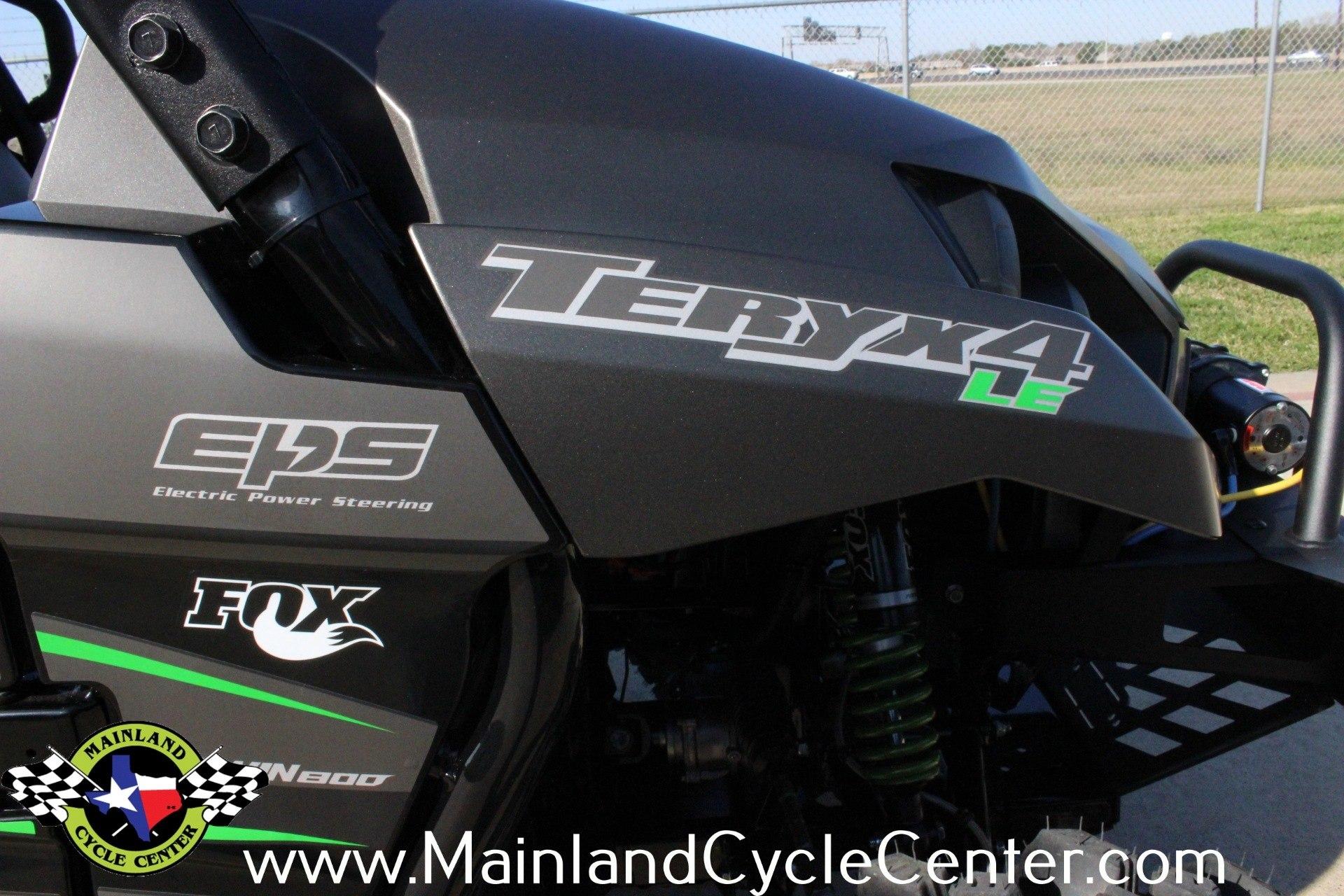 New 2016 Kawasaki Teryx4 Le Metallic Flat Raw Graystone