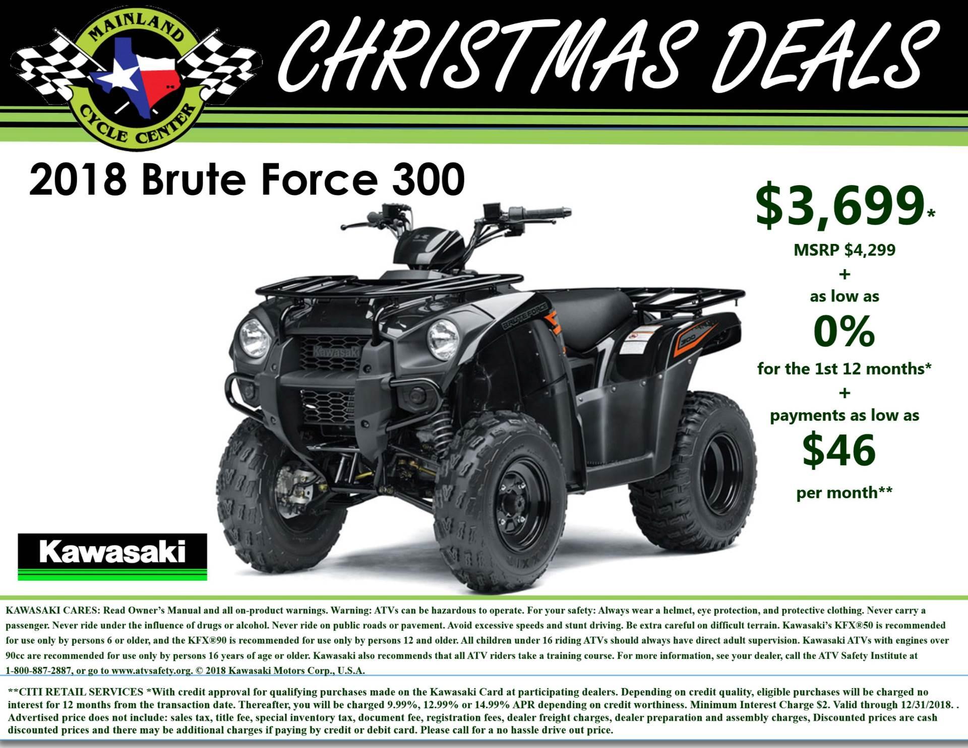 2018 Kawasaki Brute Force 300 for sale 3328