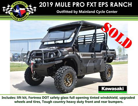 2019 Kawasaki Mule PRO-FXT Ranch Edition in La Marque, Texas - Photo 1