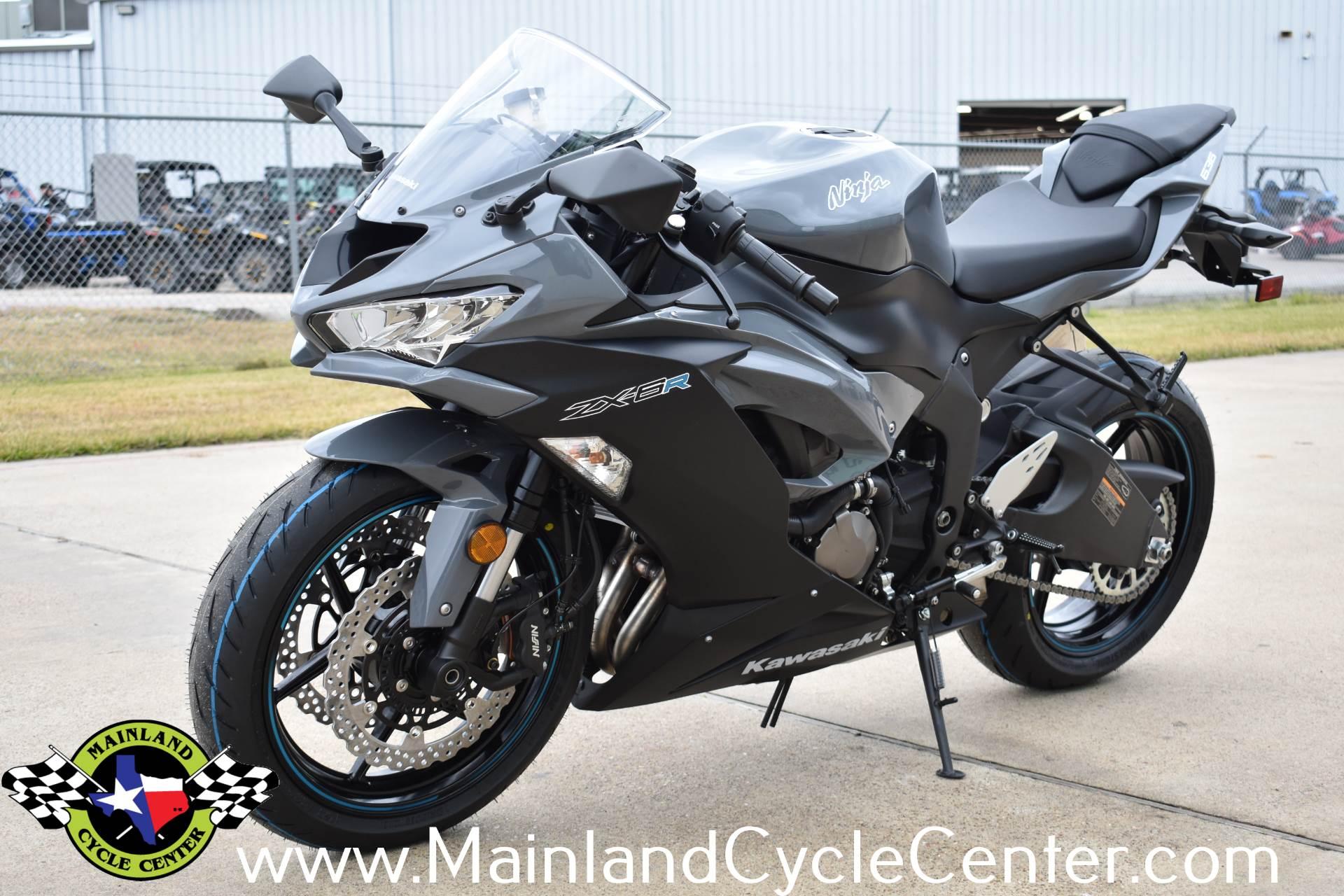 New 2019 Kawasaki Ninja Zx 6r Abs Pearl Storm Gray Metallic Spark
