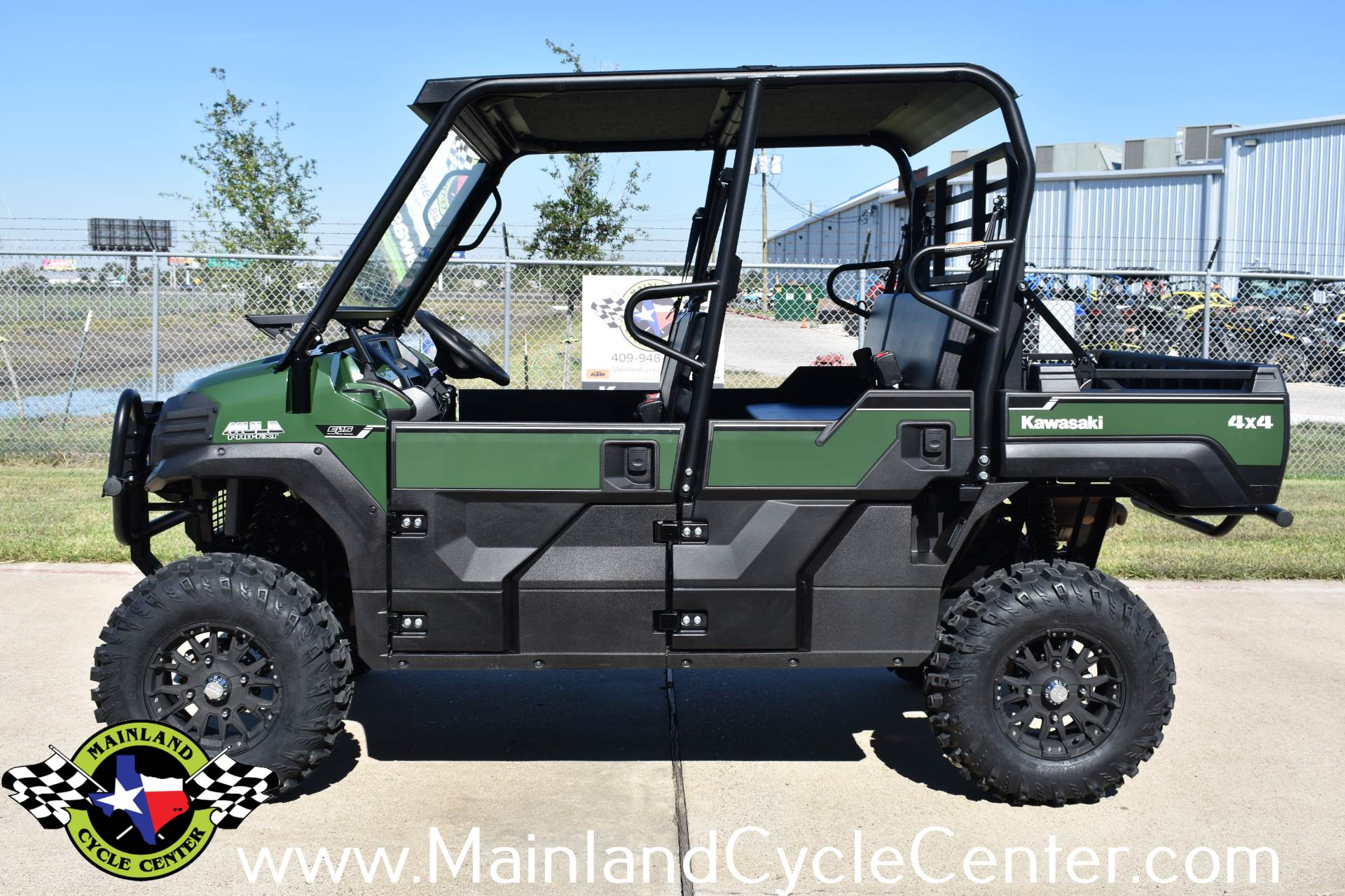 New 2019 Kawasaki Mule PRO-FXT EPS Timberline Green