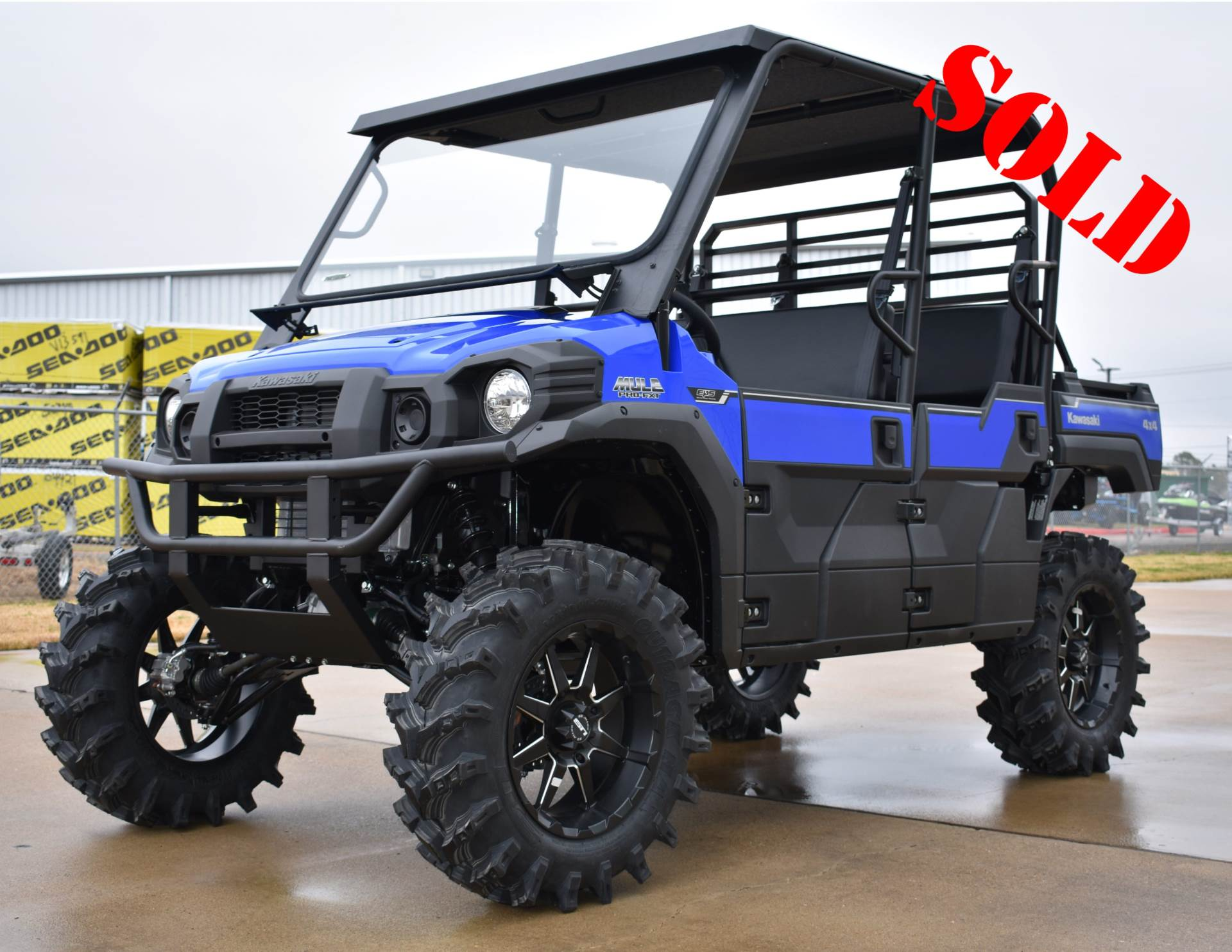 New 2018 Kawasaki Mule Pro Fxt Eps Vibrant Blue Utility Vehicles