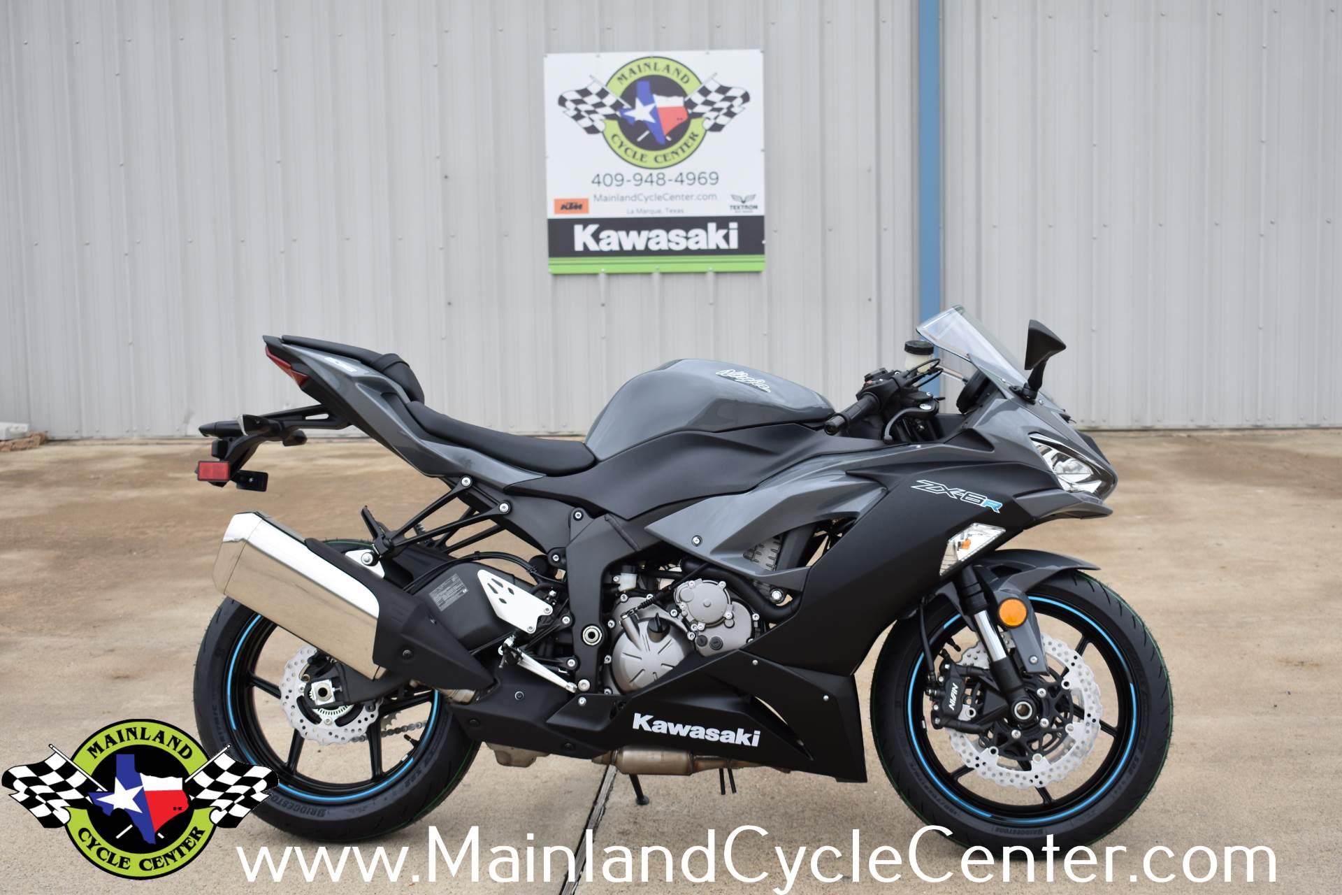 New 2019 Kawasaki Ninja Zx 6r Pearl Storm Gray Metallic Spark