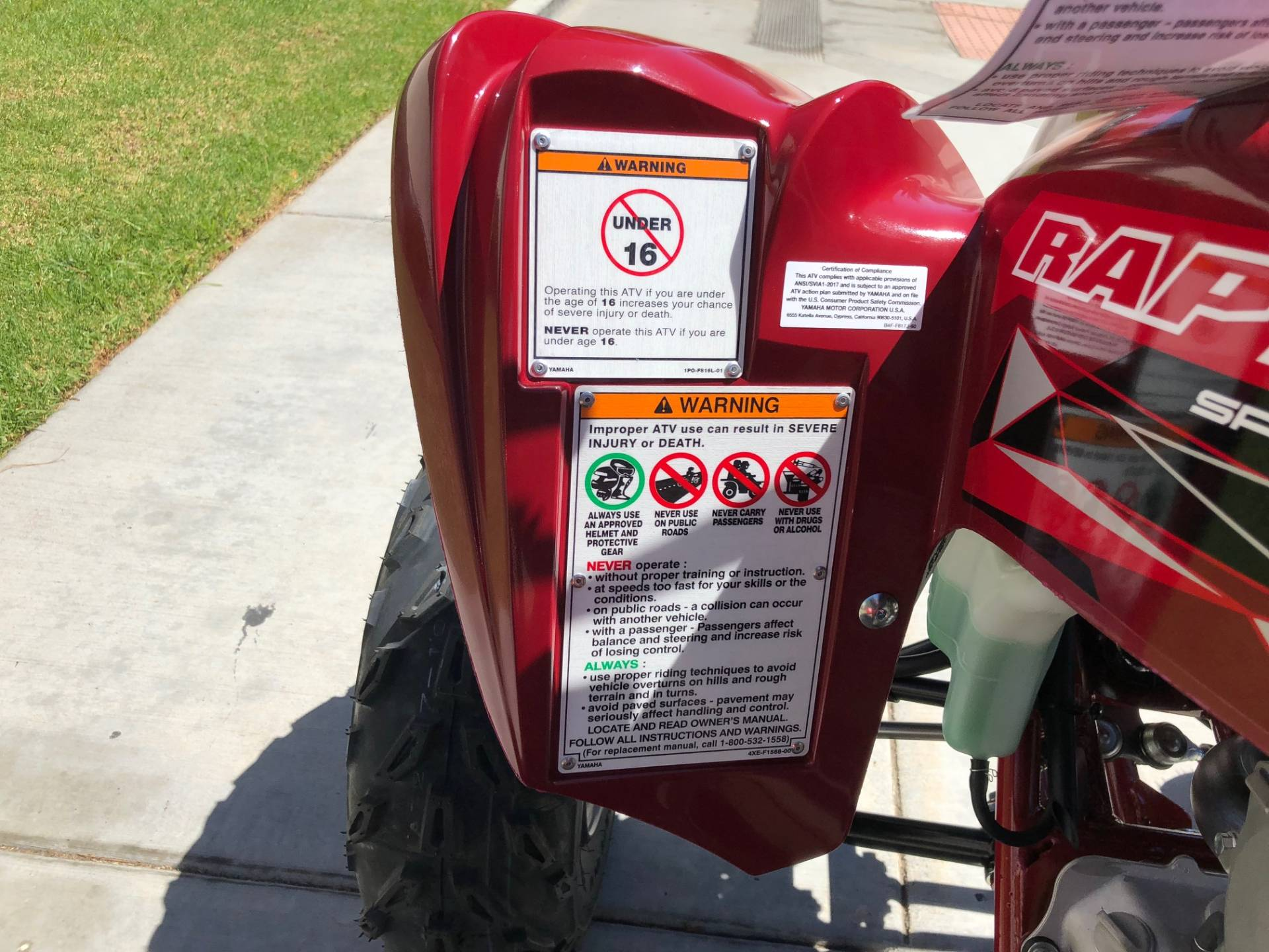 2019 Yamaha Raptor 700R SE in EL Cajon, California - Photo 25