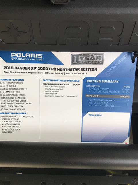 2019 Polaris Ranger XP 1000 EPS Northstar Edition Ride Command in Bolivar, Missouri - Photo 6