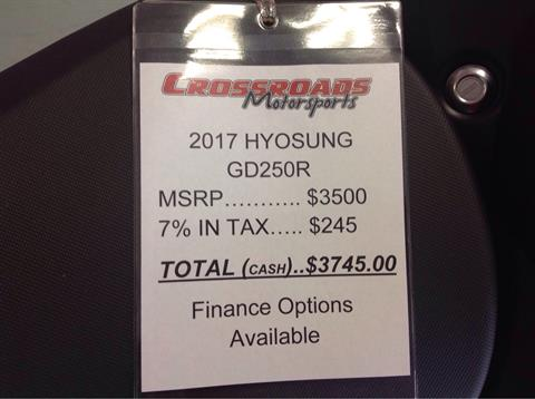 2017 Hyosung GD250R in Lafayette, Indiana - Photo 7