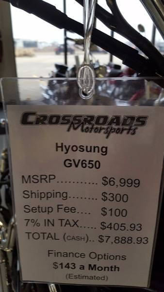 2016 Hyosung GV650 in Lafayette, Indiana - Photo 7