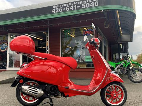 2021 Vespa Primavera 150 iGet Red in Bellevue, Washington - Photo 1