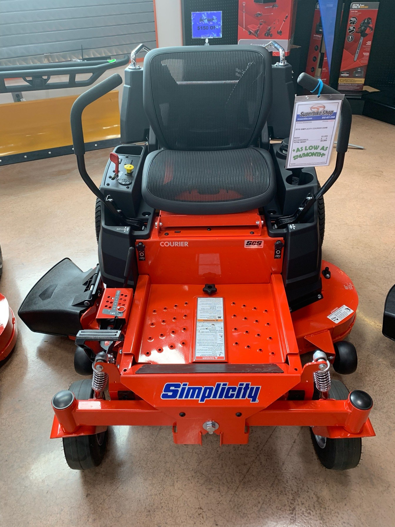 2019 Simplicity Courier 48 in. Briggs & Stratton 23 hp in Evansville, Indiana - Photo 2