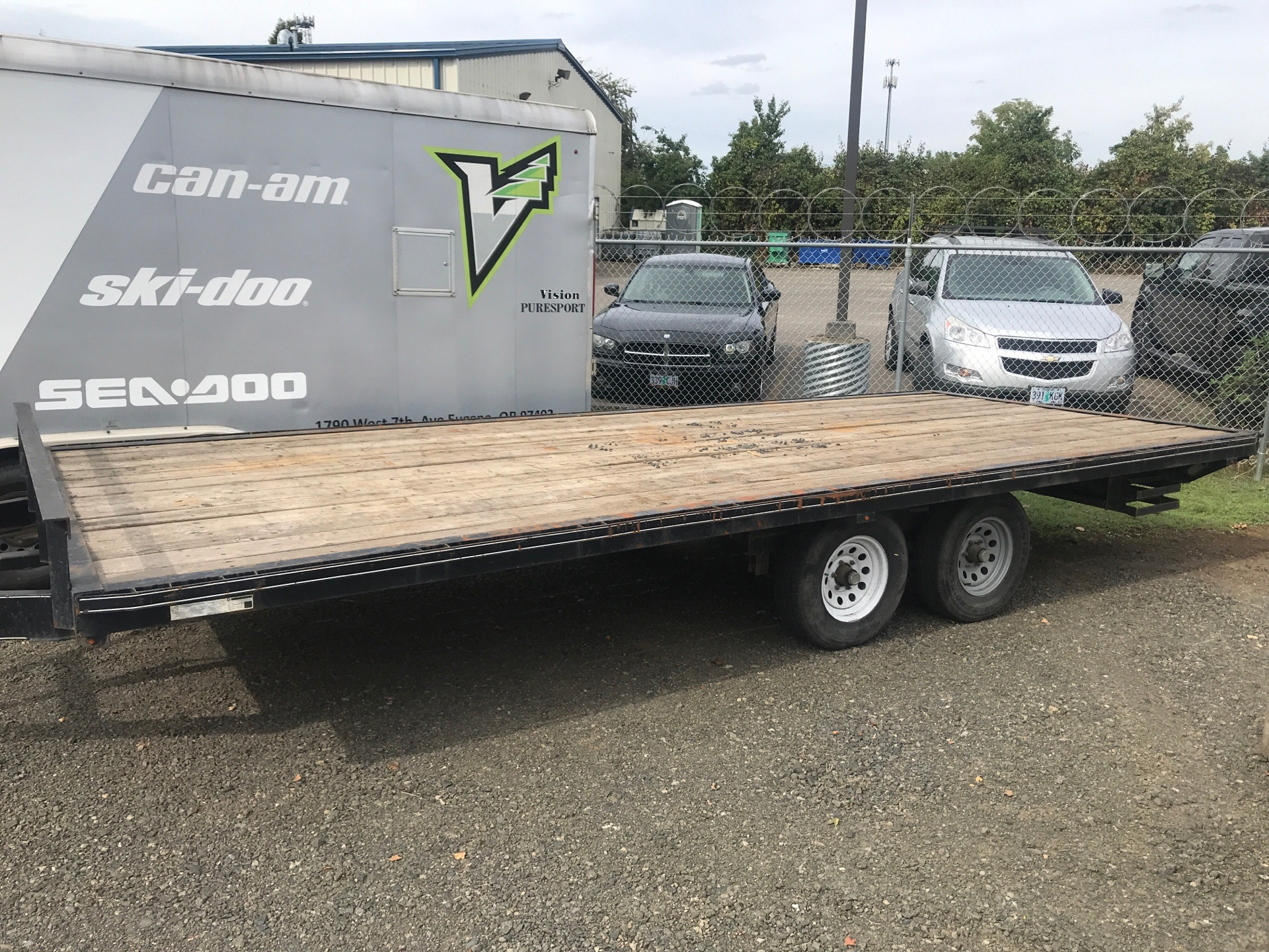 2015 Carry-On Trailers 8.5X20Deckover,SlideinRamps.WoodDeck in Eugene, Oregon - Photo 1