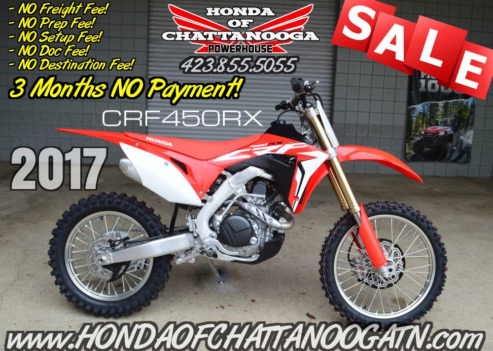 2017 Honda CRF450RX in Chattanooga, Tennessee - Photo 1