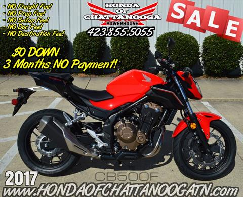 2017 Honda CB500F in Chattanooga, Tennessee - Photo 1