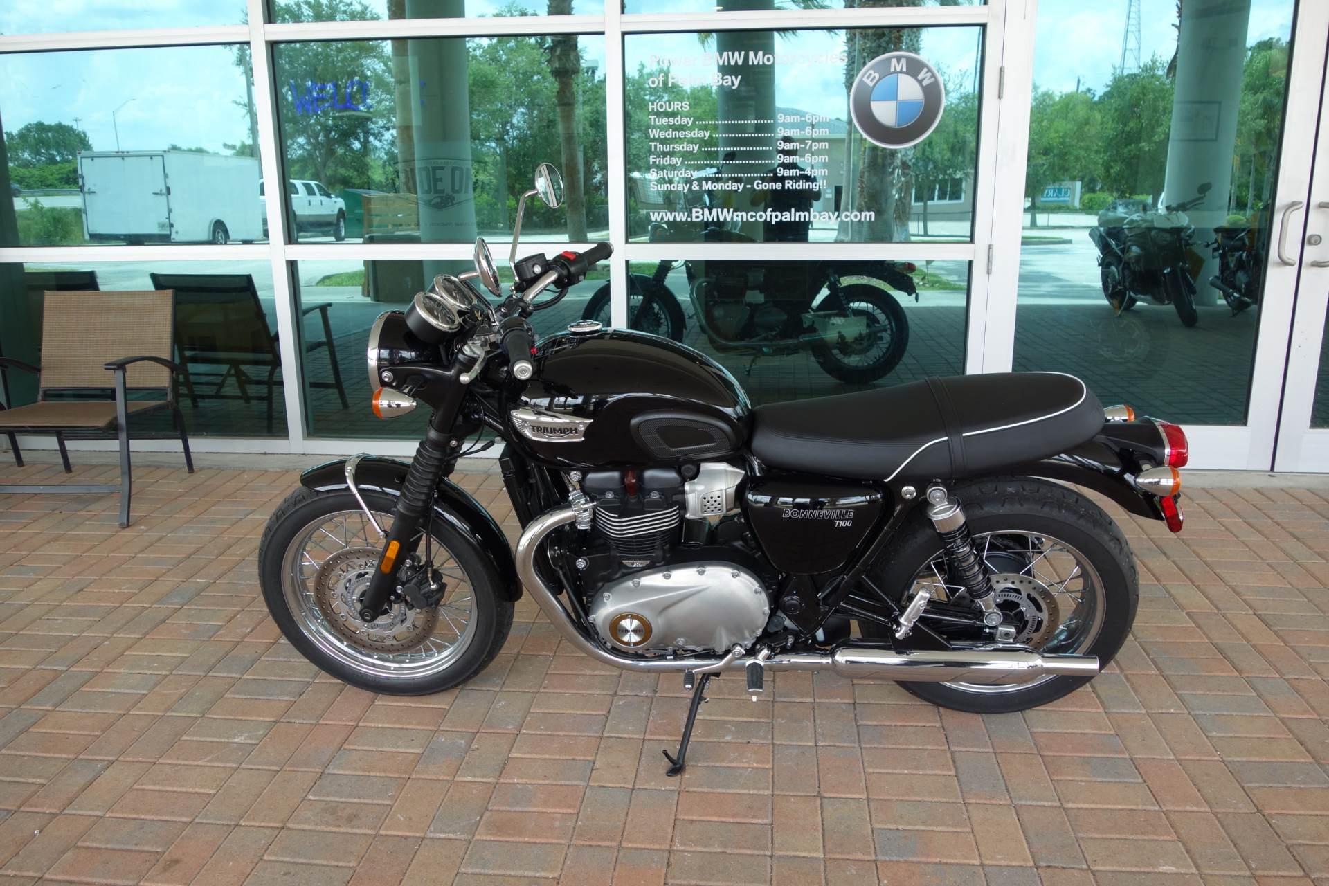 Used 2018 Triumph Bonneville T100 Jet Black Motorcycles In Palm