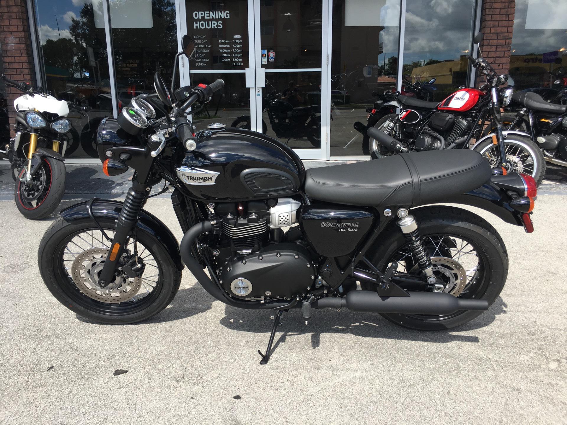 2018 Triumph Bonneville T100 Black Motorcycles Miami Florida Tri859076